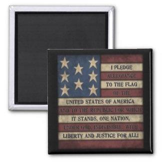 Pledge of Allegiance Square Magnet 2x2