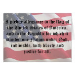 Pledge of Allegiance Stationery Note Card