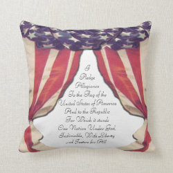Pledge of Allegiance Throw Pillow