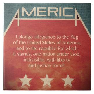 Pledge of Allegiance Ceramic Tile