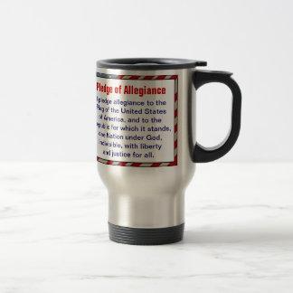 Pledge of Allegiance travel mug