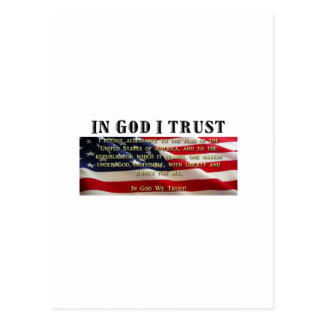 Pledge of Allegiance. Trust in God. Postcard