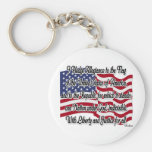 Pledge of Allegiance with US Flag Key Chain