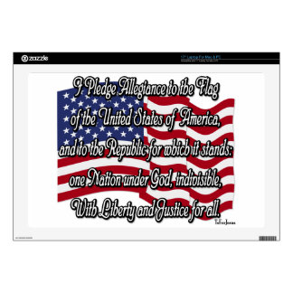 Pledge of Allegiance with US Flag Laptop Decals