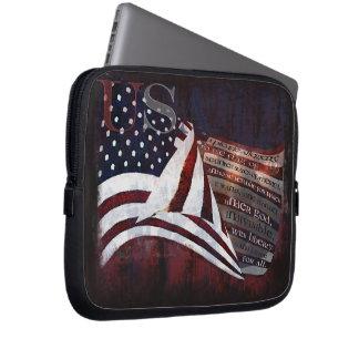 Pledge of Alliegiance -USA Flag Laptop Sleeves
