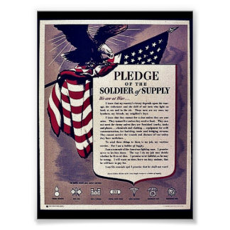 Pledge Of The Soldier Of The Supply Poster