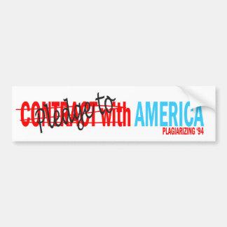 Pledge to America Bumper Sticker