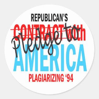 Pledge to America Sticker