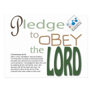 pledge to obey the LORD Postcard