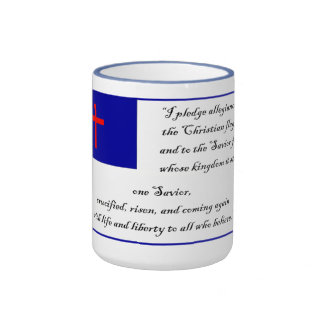 Pledge to the Christian Flag Mugs