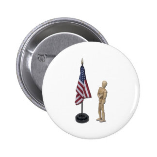 PledgeToAmericanFlag121211 Pinback Buttons