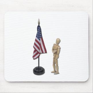 PledgeToAmericanFlag121211 Mousepads