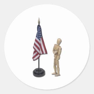 PledgeToAmericanFlag121211 Round Sticker
