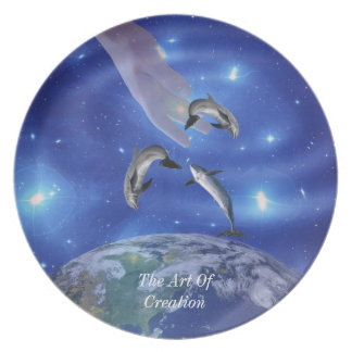 Pleiades Art of Creation Dinner Plate