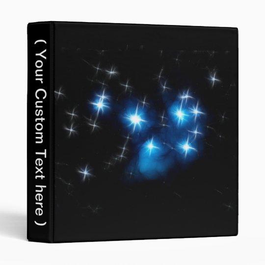 Pleiades Blue Star Cluster 3 Ring Binder