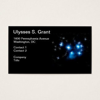 Pleiades Blue Star Cluster Business Card