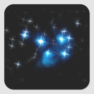 Pleiades Blue Star Cluster Square Stickers