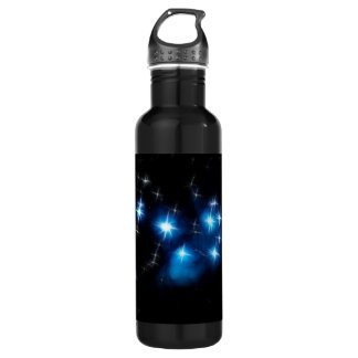 Pleiades Blue Star Cluster Stainless Steel Water Bottle