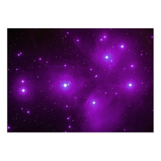 Pleiades en tarjeta púrpura del perfil tarjetas de visita grandes