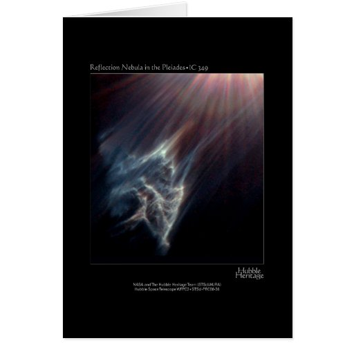 Pleiades IC 349 Nebual Hubble Telescope Photo Greeting Card