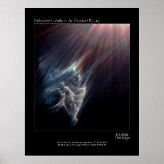 Pleiades IC 349 Nebual Hubble Telescope Photo Poster