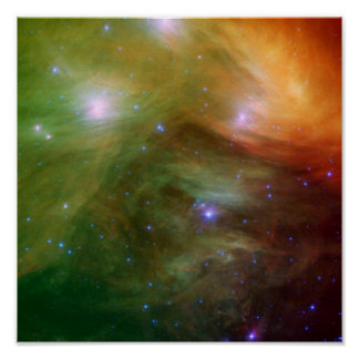 Pleiades in infrared light poster