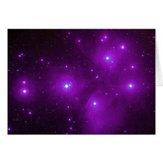 Pleiades in Purple Card