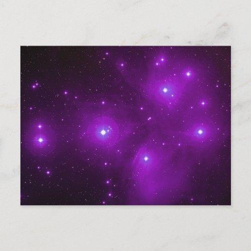 Pleiades in Purple Postcard postcard