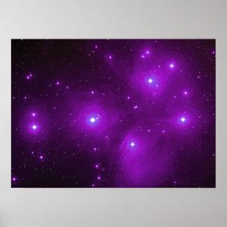 Pleiades in Purple Poster