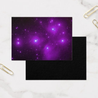 Pleiades in Purple Space Art Business Card
