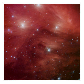 Pleiades in Red Print
