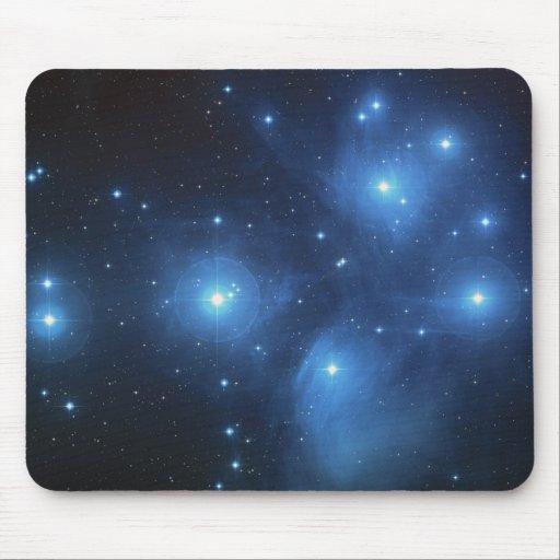 Pleiades las siete estrellas azules de las hermana tapete de ratón
