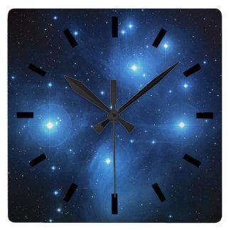 Pleiades las siete hermanas reloj cuadrado