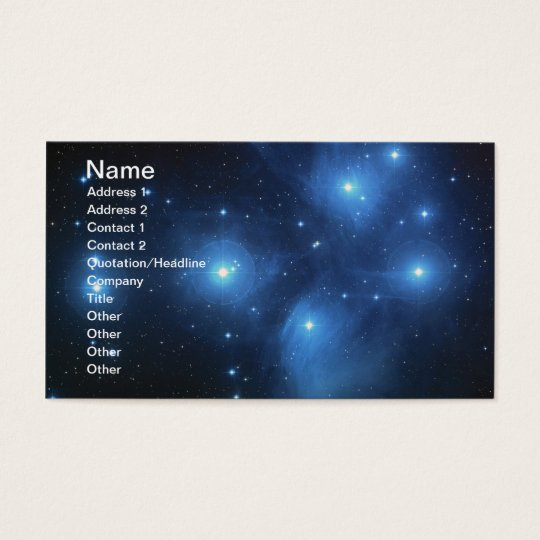 Pleiades or The Seven Sisters M45 Business Card