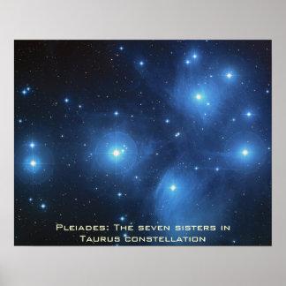 "Pleiades Poster Landscape 20"" x 16"""