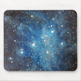 Pleiades Space Art Constellation Painting Print Mouse Pad