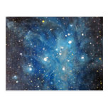 Pleiades Space Art Constellation Painting Print Post Card