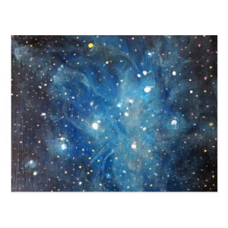 Pleiades Space Art Constellation Painting Print Postcard