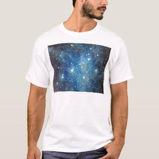 Pleiades Space Art Constellation Painting Print T-Shirt