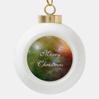 Pleiades Spitzer Telescope Ceramic Ball Christmas Ornament