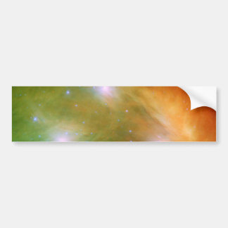 Pleiades stars in infrared light bumper sticker