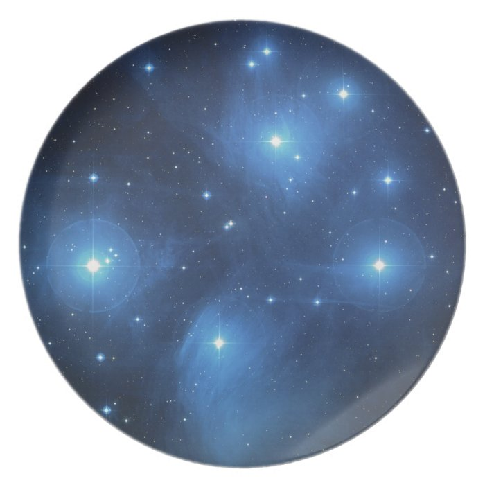 Pleiades The seven sisters Plate
