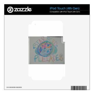Pleiadian Starseed Light Language iPod Touch 4G Skins