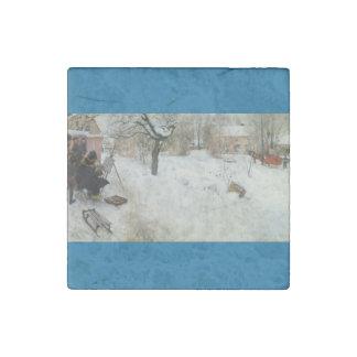 Plein Air Motif  Asogatan 1886 Stone Magnet