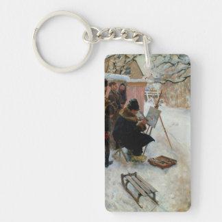 Plein Air Motif  Asogatan 1886 Single-Sided Rectangular Acrylic Keychain