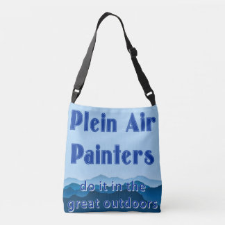 Plein air painters do it in the great outdoors crossbody bag