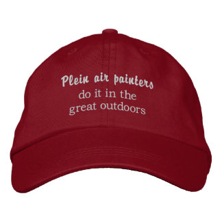 Plein air painters do it in the great outdoors embroidered baseball cap