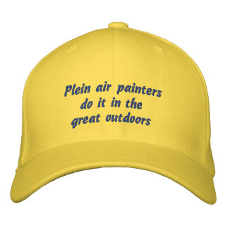 Plein air painters do it in the great outdoors embroidered baseball hat