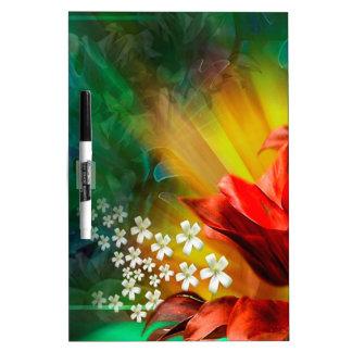 Plena floración de la flor abstracta tableros blancos