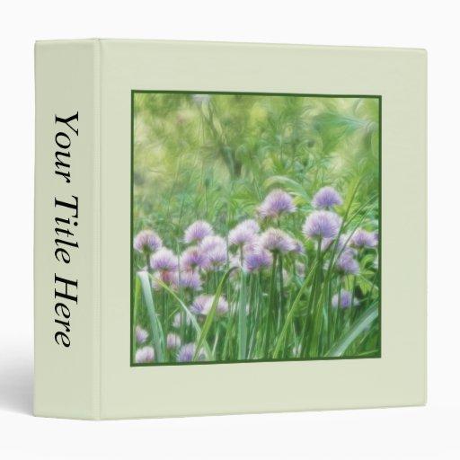 """Plena floración - flores de la cebolleta carpeta 1 1/2"""""""